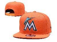 Mens Mlb Miami Marlins Snapback Adjustable Hats New Era Orange