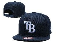 Mens Mlb Tampa Bay Rays Snapback Adjustable Hats New Era Dark Blue