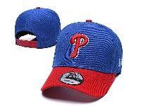 Mens Mlb Philadelphia Phillies Snapback Adjustable Hats New Era Blue With Red
