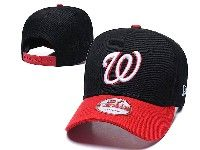 Mens Mlb Washington Nationals Adjustable Hats Big W New Era Black With Red