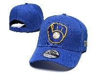 Mens Mlb Milwaukee Brewers Adjustable Hats New Era Blue