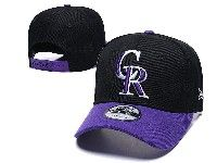 Mens Mlb Colorado Rockies Adjustable Hats New Era Black With Purple