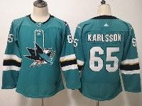 Women Youth Adidas Nhl San Jose Sharks #65 Erik Karlsson Green Home Jersey