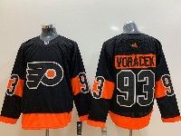 Mens Philadelphia Flyers #93 Jakub Voracek Black Alternate Adidas Jersey