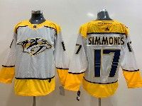 Mens Nhl Nashville Predators #17 Wayne Simmonds White Adidas Jersey