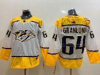 Mens Nhl Nashville Predators #64 Mikael Granlund White Adidas Jersey