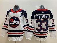 Mens Adidas Nhl Winnipeg Jets #33 Dustin Byfuglien White Alternate Jersey