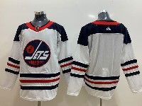 Mens Adidas Nhl Winnipeg Jets Blank White Alternate Jersey