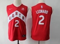 Youth 2018-19 Nba Toronto Raptors #2 Kawhi Leonard Red Playoff Award Edition Nike Swingman Jersey