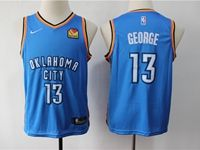 Youth Nba Oklahoma City Thunder #13 Paul George Blue Swingman Jersey