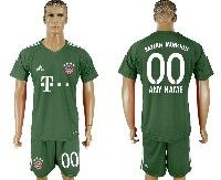 Mens 19-20 Soccer Bayern Munchen ( Custom Made ) Green Goalkeeper Short Sleeve Suit Jersey