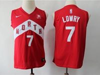 Youth 2018-19 Nba Toronto Raptors #7 Kyle Lowry Red Playoff Award Edition Nike Swingman Jersey