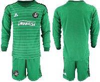 Mens 19-20 Soccer Atlanta United Club Custom Made Green Stripe Long Sleeve Suit Jersey