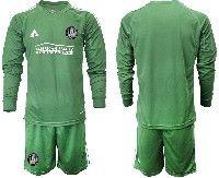 Mens 19-20 Soccer Atlanta United Club Custom Made Green Long Sleeve Suit Jersey