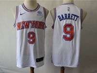 Mens New Season Nba New York Knicks #9 R.j. Barrett White Mitchell≠ss Swingman Nike Jersey