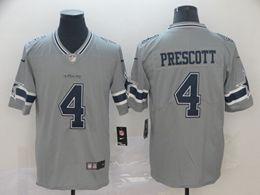 Mens Nfl Dallas Cowboys #4 Dak Prescott Gray Nike Inverted Legend Vapor Untouchable Limited Jersey