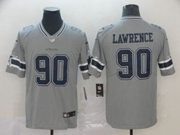 Mens Nfl Dallas Cowboys #90 Demarcus Lawrence Gray Nike Inverted Legend Vapor Untouchable Limited Jersey