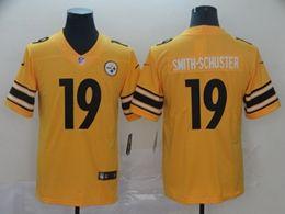 Mens Nfl Pittsburgh Steelers #19 Juju Smith-schuster Gold Nike Inverted Legend Vapor Untouchable Limited Jersey