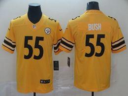 Mens Nfl Pittsburgh Steelers #55 Devin Bush Gold Nike Inverted Legend Vapor Untouchable Limited Jersey