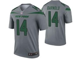Mens Nfl New York Jets #14 Sam Darnold Gray Nike Inverted Legend Jersey