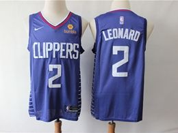 Mens Nba Los Angeles Clippers #2 Kawhi Leonard Blue Swingman Jersey