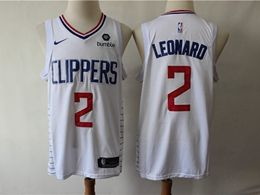 Mens Nba Los Angeles Clippers #2 Kawhi Leonard White Swingman Jersey