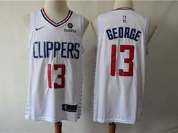 Mens Nba Los Angeles Clippers #13 Paul George New White Swingman Jersey