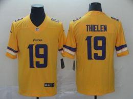 Mens Minnesota Vikings #19 Adam Thielen Gold Nike Inverted Legend Vapor Untouchable Limited Jersey