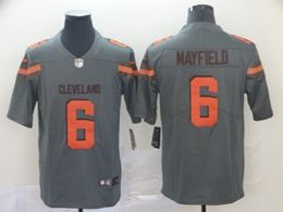 Mens Nfl Cleveland Browns #6 Baker Mayfield Gray Nike Inverted Legend Vapor Untouchable Limited Jersey