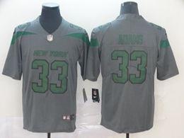 Mes Nfl New York Jets #33 Jamal Adams Gray Nike Inverted Legend Vapor Untouchable Limited Jersey