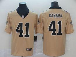 Mens Nfl New Orleans Saints #41 Alvin Kamara Gold Nike Inverted Legend Vapor Untouchable Limited Jersey