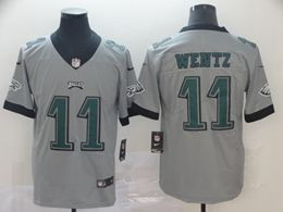 Mens Nfl Philadelphia Eagles #11 Carson Wentz Silver Nike Inverted Legend Vapor Untouchable Limited Jersey