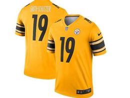 Mens Nfl Pittsburgh Steelers #19 Juju Smith-schuster Gold Nike Inverted Legend Jersey