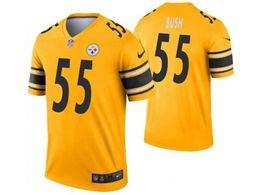Mens Nfl Pittsburgh Steelers #55 Devin Bush Gold Nike Inverted Legend Jersey