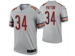 Mens Nfl Chicago Bears #34 Walter Payton Silver Nike Inverted Legend Jersey