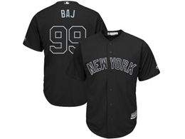 Mens Mlb New York Yankees #99 Baj (aaron Judge) Black 2019 Players Weekend Cool Base Jersey