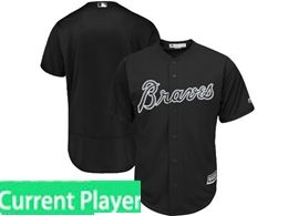 Mens Mlb Atlanta Braves Black 2019 Players Weekend Authentic Current Player Flex Base Jersey