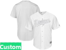 Mens Mlb Los Angeles Dodgers White 2019 Players Weekend Custom Made Flex Base Jersey