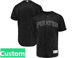 Mens Mlb Pittsburgh Pirates Black 2019 Players Weekend Custom Made Flex Base Jersey