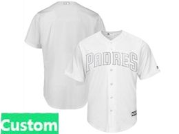 Mens Mlb San Diego Padres White 2019 Players Weekend Custom Made Flex Base Jersey