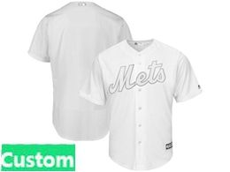 Mens Mlb New York Mets White 2019 Players Weekend Custom Made Flex Base Jersey