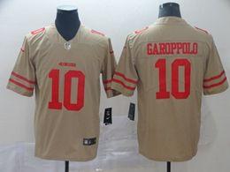 Mens Nfl San Francisco 49ers #10 Jimmy Garoppolo Gold Nike Inverted Legend Vapor Untouchable Limited Jersey