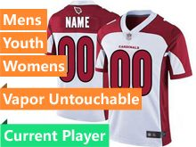 Mens Women Youth Nfl Arizona Cardinals White Current Player Vapor Untouchable Limited Jersey