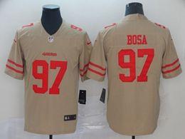 Mens Nfl San Francisco 49ers #97 Nick Bosa Gold Nike Inverted Legend Vapor Untouchable Limited Jersey
