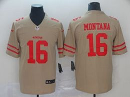 Mens Nfl San Francisco 49ers #16 Joe Montana Gray Nike Inverted Legend Vapor Untouchable Limited Jersey