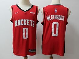 Mens New Season Nba Houston Rockets #0 Russell Westbrook Red Nike Swingman Jersey