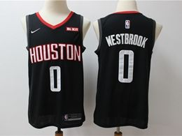 Mens New Season Nba Houston Rockets #0 Russell Westbrook Black Nike Swingman Jersey