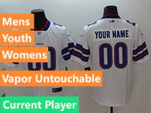 Mens Women Youth Nfl Buffalo Bills White Current Player Vapor Untouchable Limited Jersey