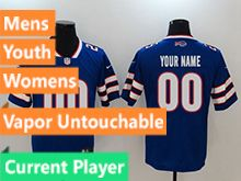 Mens Women Youth Nfl Buffalo Bills Blue Current Player Vapor Untouchable Limited Jersey