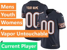 Mens Women Youth Nfl Chicago Bears Blue Vapor Untouchable Limited Current Player Jersey